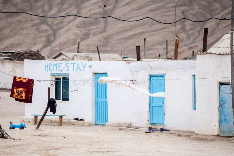 Άποψη του χωριού Bulunkul στο Τατζικιστάν στοκ εικόνες