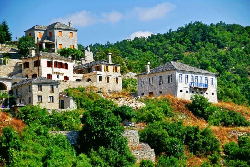 Άποψη του χωριού Vitsa στην περιοχή Zagoria στοκ εικόνες