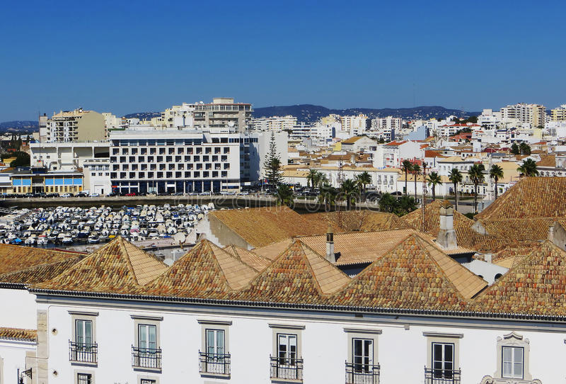 Άποψη του Faro (Faro, Πορτογαλία) στοκ φωτογραφίες
