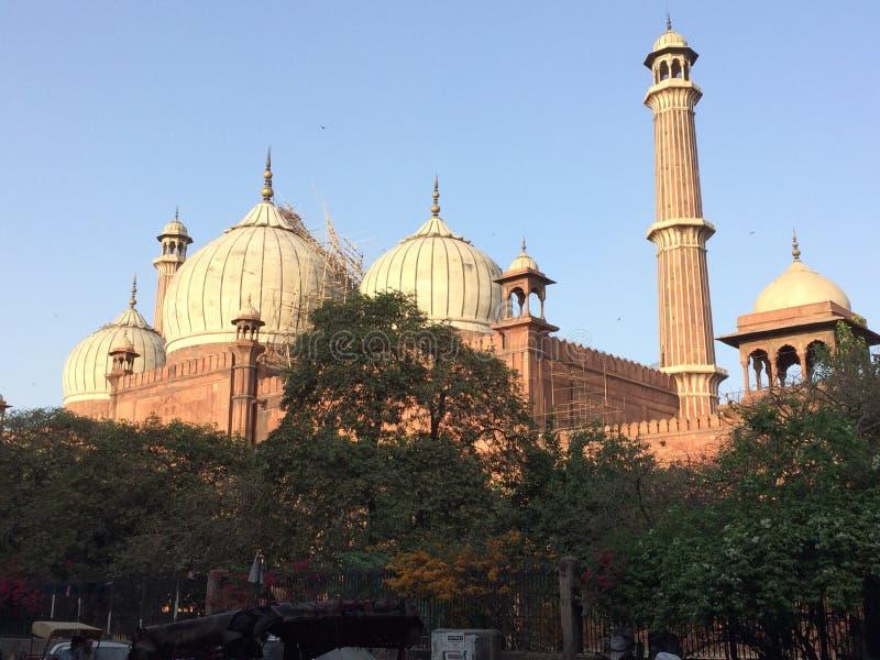 άποψη του jama masjid, Δελχί, Ινδία στοκ φωτογραφία