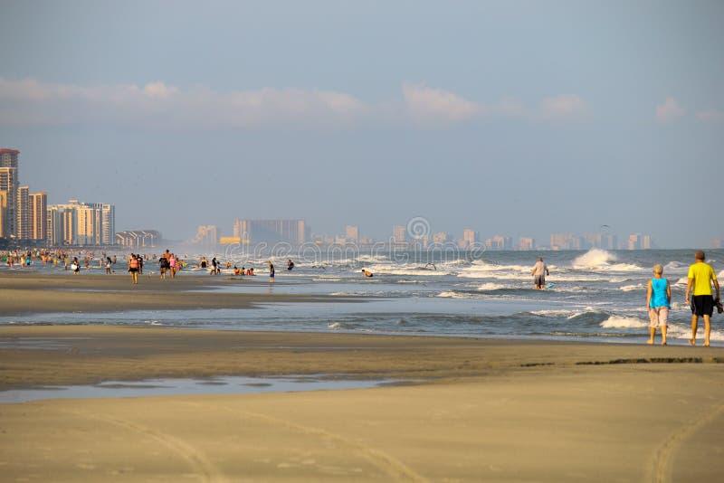 Άποψη του Myrtle Beach στα ξημερώματα στοκ φωτογραφίες