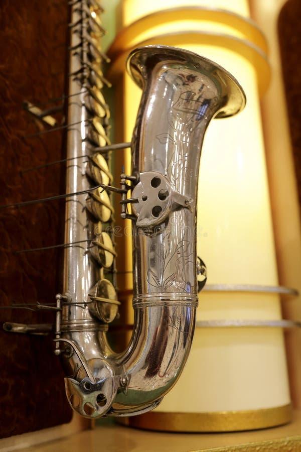 Άποψη του saxophone στοκ φωτογραφίες