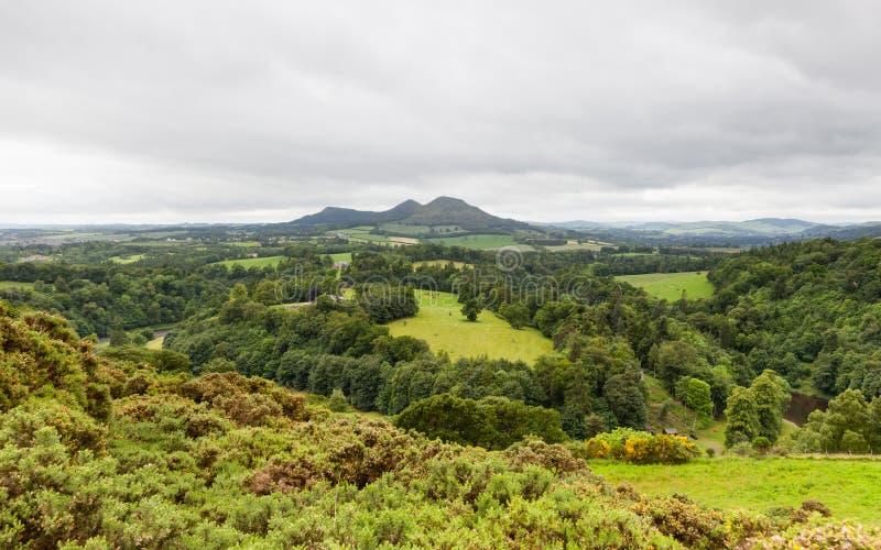 Άποψη του Scott ` s στα σκωτσέζικα σύνορα στοκ εικόνες με δικαίωμα ελεύθερης χρήσης