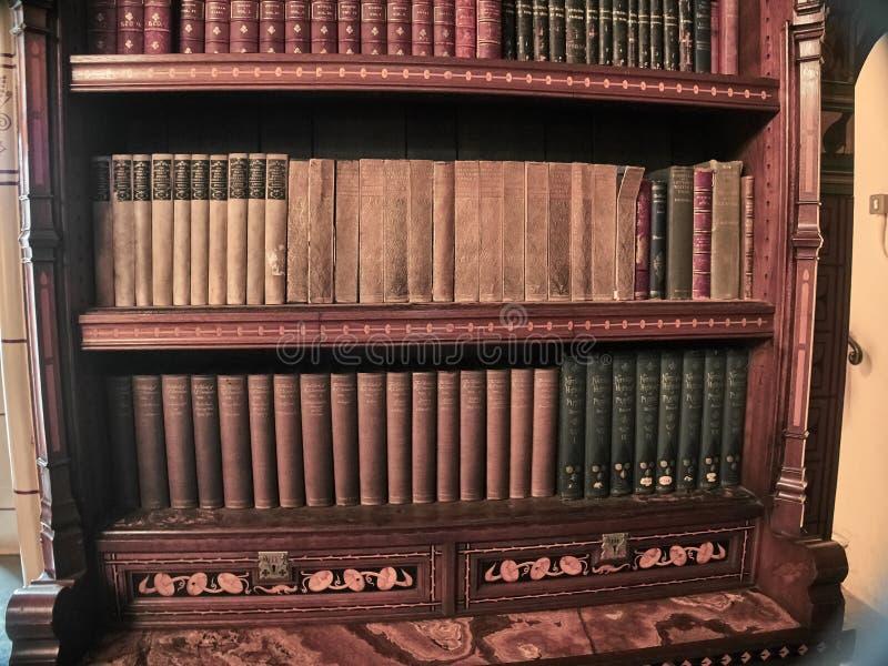 Άποψη των βιβλιοθηκών του Castle του Κάρντιφ στοκ φωτογραφίες