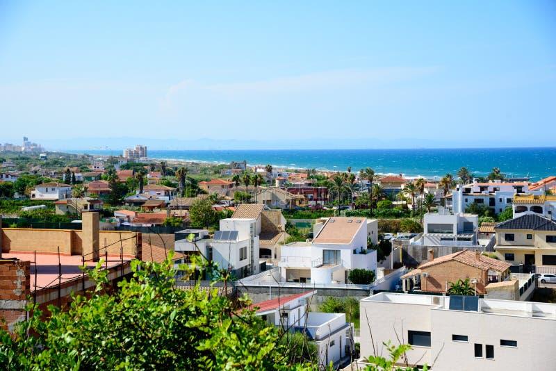 Άποψη των διαμερισμάτων Cullera, Ισπανία στοκ εικόνα με δικαίωμα ελεύθερης χρήσης