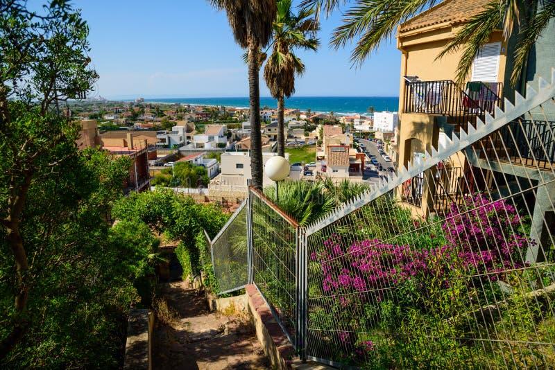 Άποψη των διαμερισμάτων Cullera, Ισπανία στοκ εικόνες