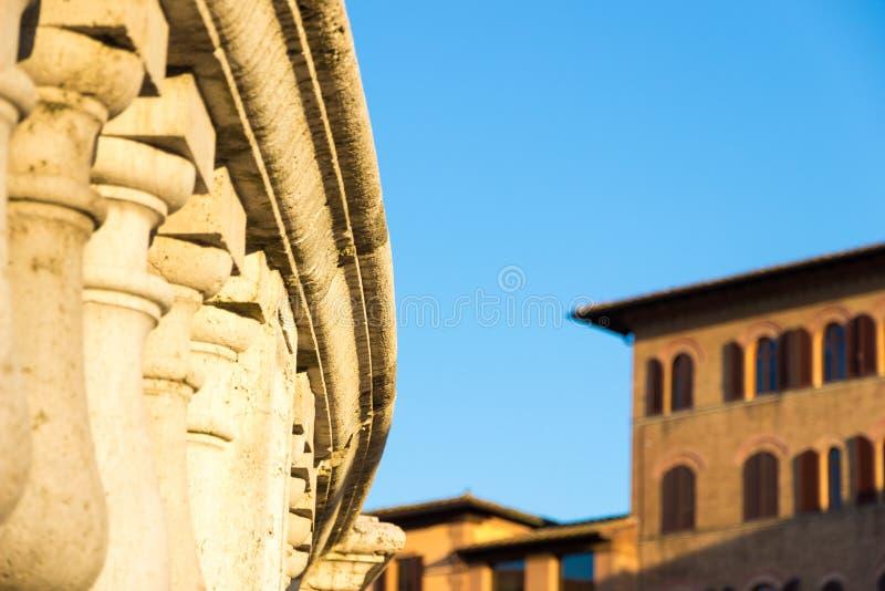 Άποψη των ιστορικών κτηρίων στη στο κέντρο της πόλης Σιένα, Ιταλία στοκ φωτογραφία με δικαίωμα ελεύθερης χρήσης