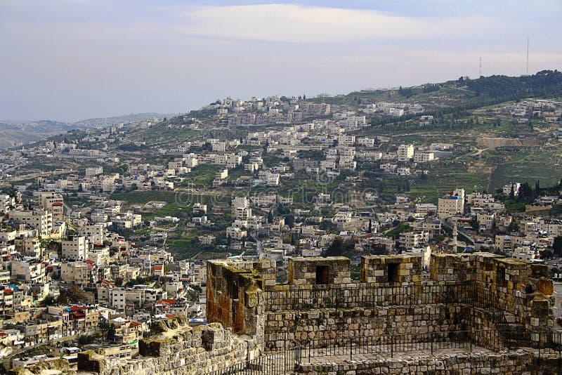 Άποψη των κατοικήσιμων περιοχών της Ιερουσαλήμ στοκ εικόνα με δικαίωμα ελεύθερης χρήσης