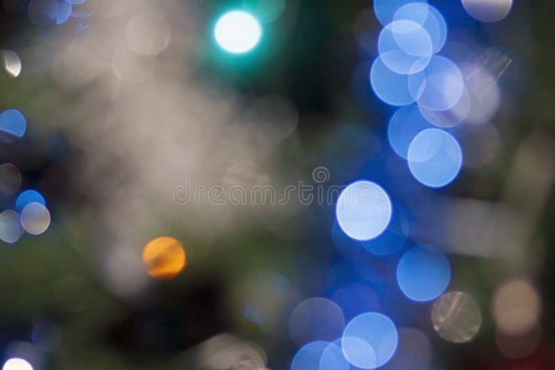 Άποψη των μουτζουρωμένων φω'των Χριστουγέννων στοκ φωτογραφίες
