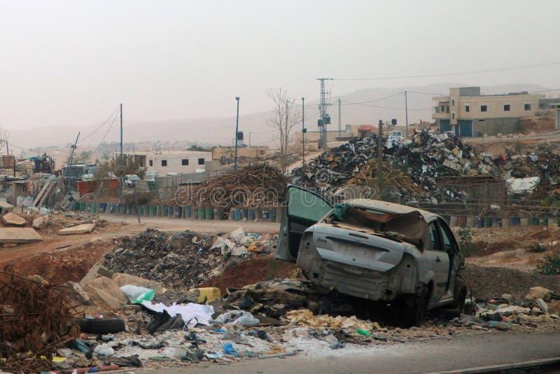 Άποψη των οδών μετά από τους βομβαρδισμούς του Ισραήλ στην Παλαιστίνη στοκ εικόνες με δικαίωμα ελεύθερης χρήσης