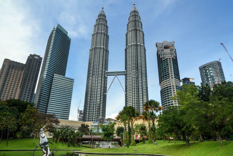 Άποψη των πύργων Petronas στοκ εικόνες