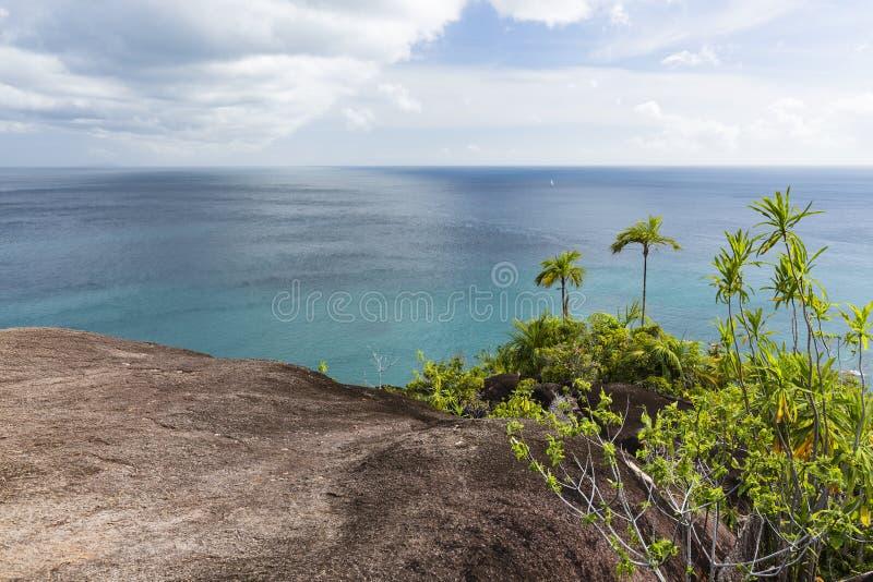 Άποψη δυτικών ακτών Mahe, Σεϋχέλλες στοκ φωτογραφίες με δικαίωμα ελεύθερης χρήσης