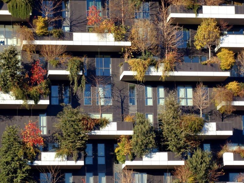 Άποψη φθινοπώρου Bosco Verticale στοκ φωτογραφία