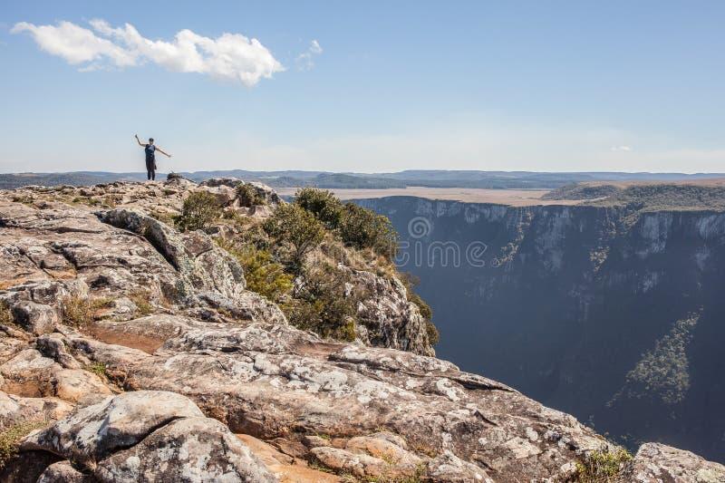Άποψη Canion Φορταλέζα - του εθνικού πάρκου Serra Geral στοκ εικόνα