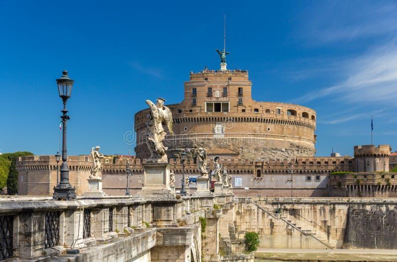 Άποψη Castel Sant'Angelo στη Ρώμη, Ιταλία στοκ φωτογραφία με δικαίωμα ελεύθερης χρήσης