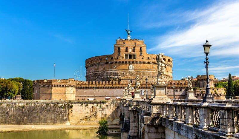 Άποψη Castel Sant'Angelo στη Ρώμη στοκ φωτογραφίες με δικαίωμα ελεύθερης χρήσης