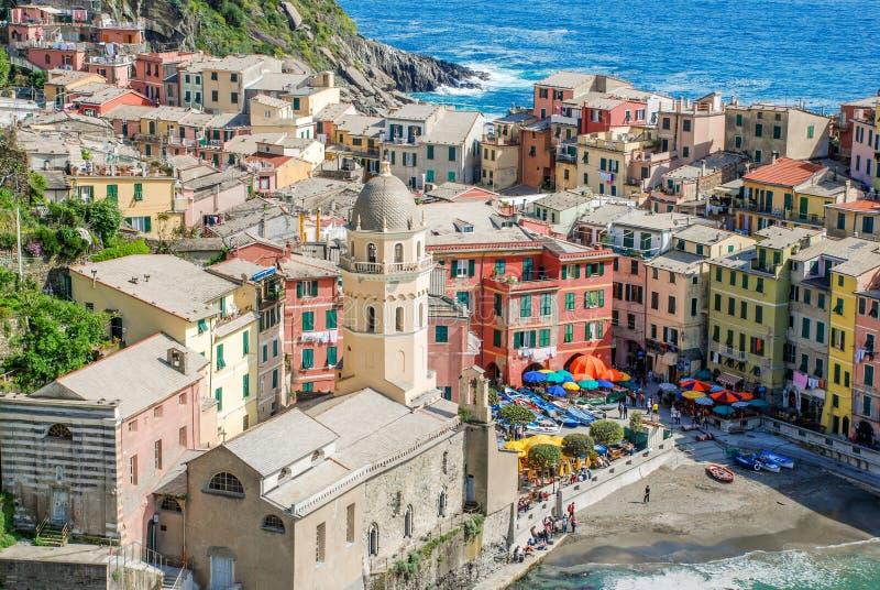Άποψη Cinque Terre Vernazza στοκ φωτογραφία με δικαίωμα ελεύθερης χρήσης