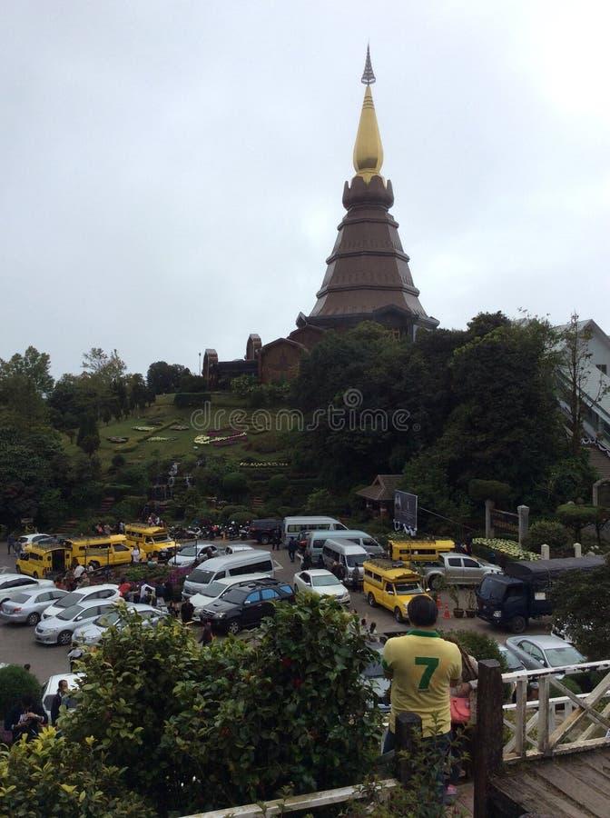 Άποψη Doi Inthanon σε Chiangmai Ταϊλάνδη στοκ εικόνα