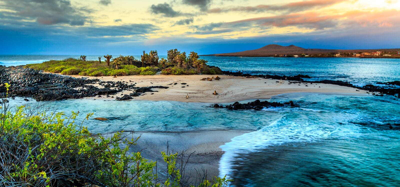 Άποψη Galapagos στοκ φωτογραφία με δικαίωμα ελεύθερης χρήσης