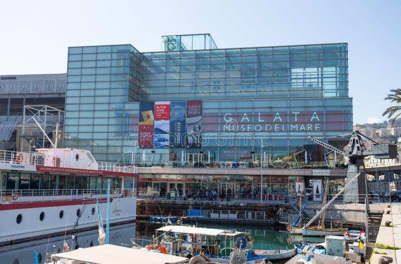 Άποψη Galata, μουσείο της θάλασσας Museo del Mare, στη Γένοβα, Ιταλία στοκ φωτογραφίες με δικαίωμα ελεύθερης χρήσης