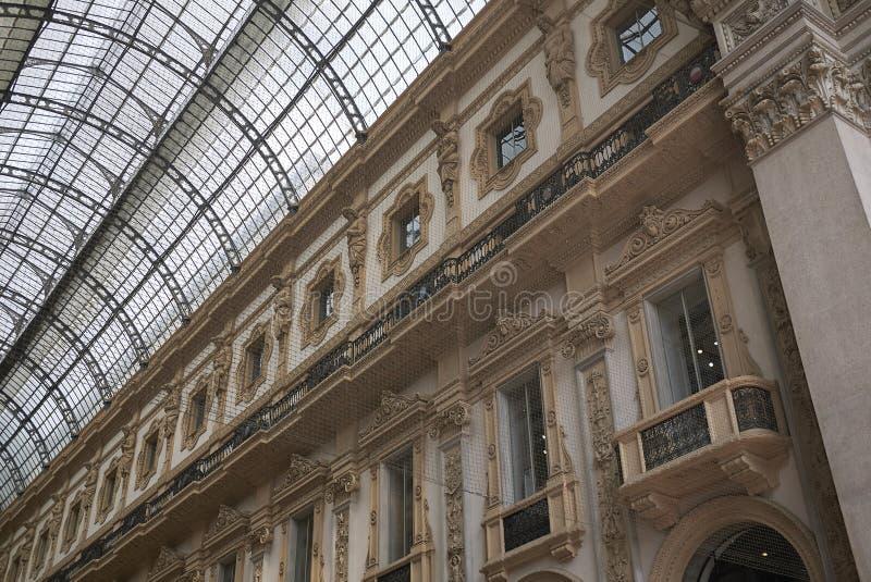 Άποψη Galleria Vittorio Emanuele ΙΙ στοκ εικόνες