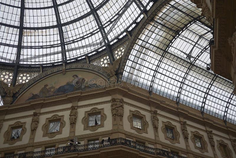 Άποψη Galleria Vittorio Emanuele ΙΙ στοκ φωτογραφία με δικαίωμα ελεύθερης χρήσης