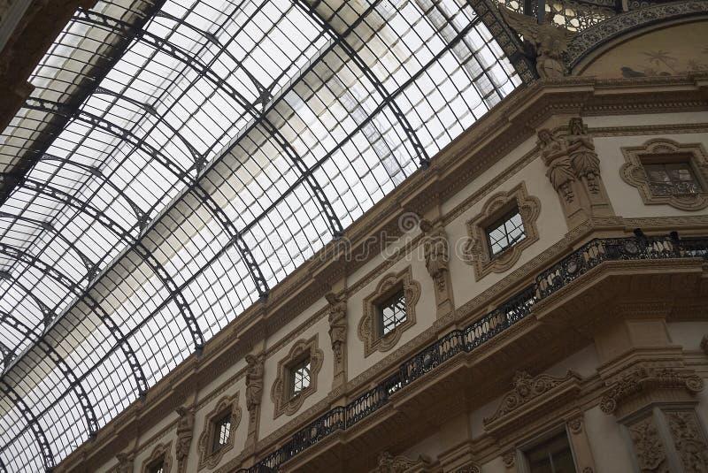 Άποψη Galleria Vittorio Emanuele ΙΙ στοκ φωτογραφίες με δικαίωμα ελεύθερης χρήσης
