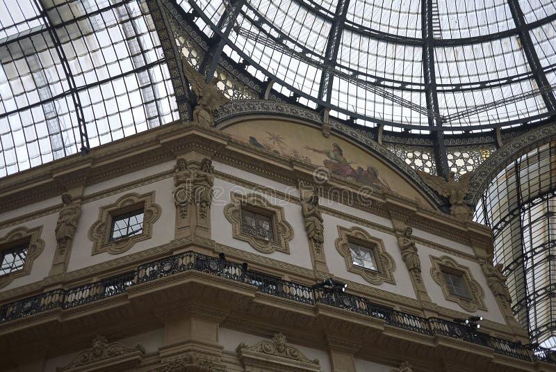 Άποψη Galleria Vittorio Emanuele ΙΙ στοκ εικόνες με δικαίωμα ελεύθερης χρήσης