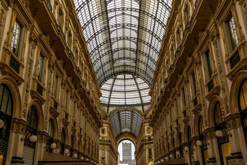 Άποψη Galleria Vittorio Emanuele στο Μιλάνο στοκ εικόνες με δικαίωμα ελεύθερης χρήσης