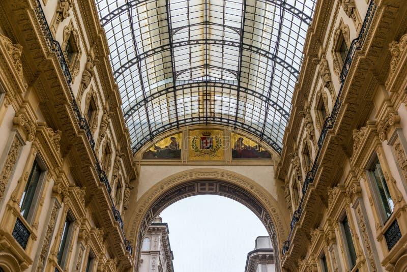 Άποψη Galleria Vittorio Emanuele - 3 στοκ φωτογραφία με δικαίωμα ελεύθερης χρήσης