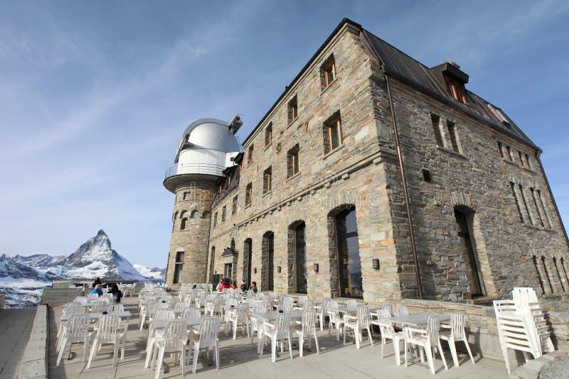 Άποψη Gornergrat στο βουνό Matterhorn στοκ εικόνα με δικαίωμα ελεύθερης χρήσης