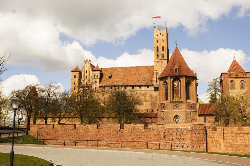 Άποψη Malbork Castle - εικόνα αποθεμάτων στοκ εικόνα με δικαίωμα ελεύθερης χρήσης