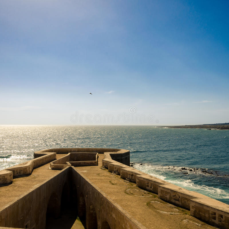 Άποψη Maniace Castle στοκ φωτογραφία με δικαίωμα ελεύθερης χρήσης