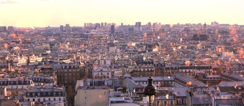 Άποψη Montmartre του Παρισιού, πανόραμα στοκ εικόνα