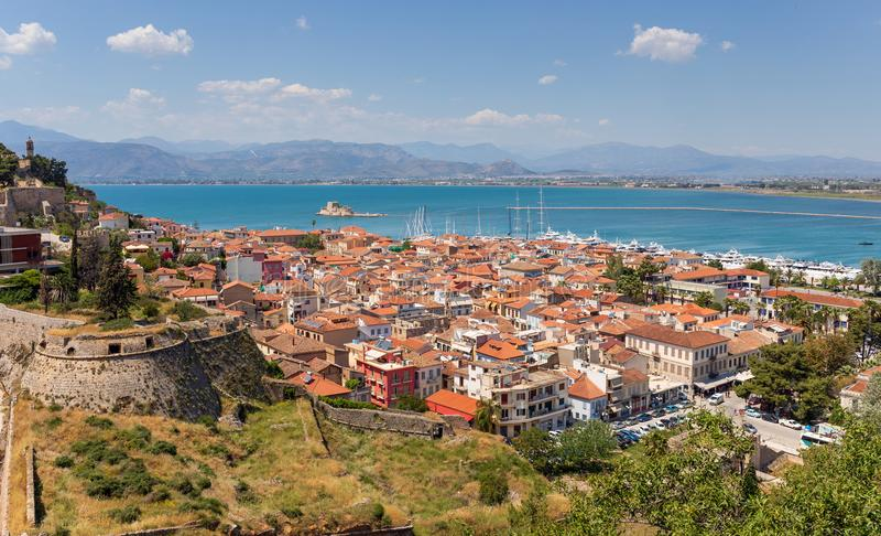 Άποψη Nafplio, Πελοπόννησος, Ελλάδα στοκ φωτογραφίες
