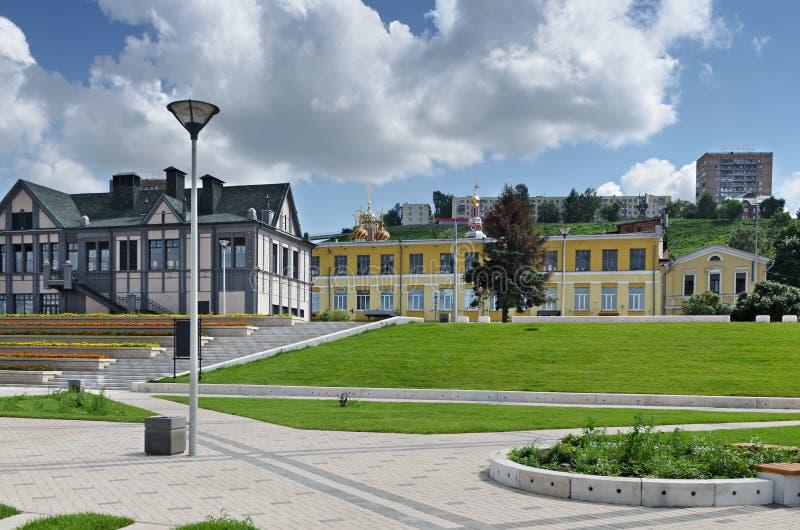 Άποψη Nizhny Novgorod από την προκυμαία στοκ φωτογραφία με δικαίωμα ελεύθερης χρήσης