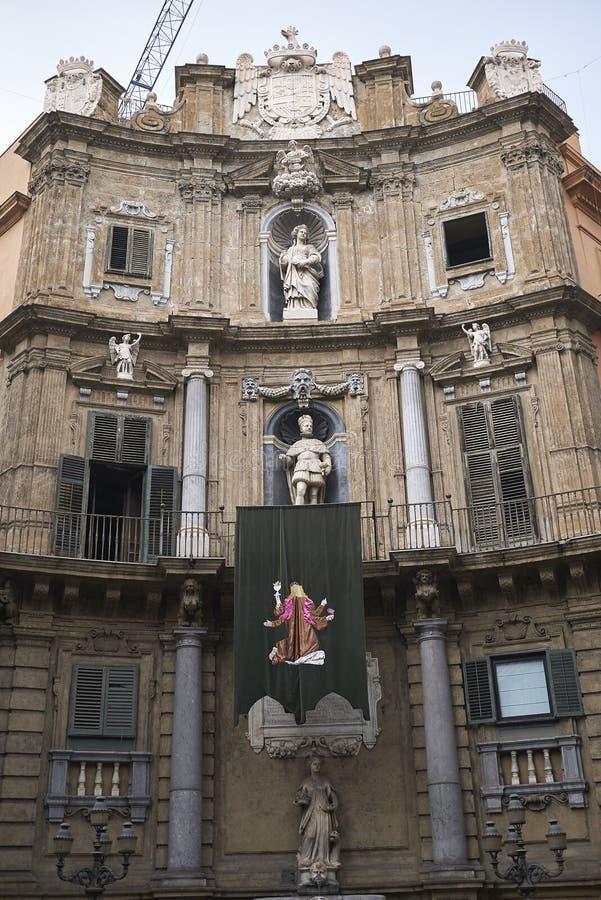 Άποψη Quattro Canti στοκ φωτογραφίες με δικαίωμα ελεύθερης χρήσης