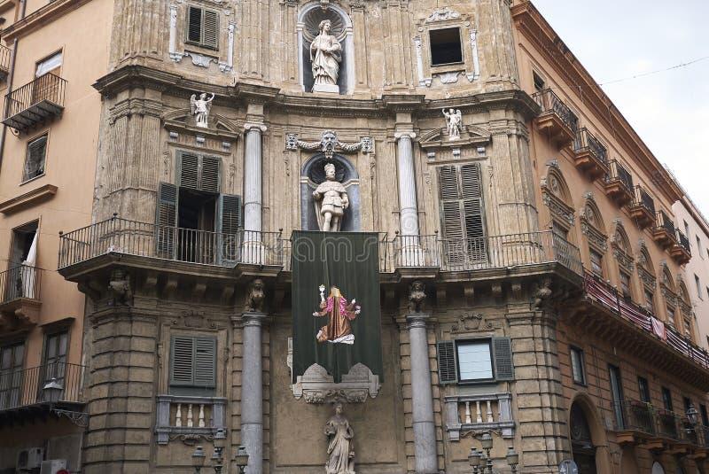 Άποψη Quattro Canti στοκ εικόνα