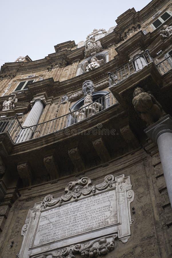 Άποψη Quattro Canti στοκ φωτογραφίες