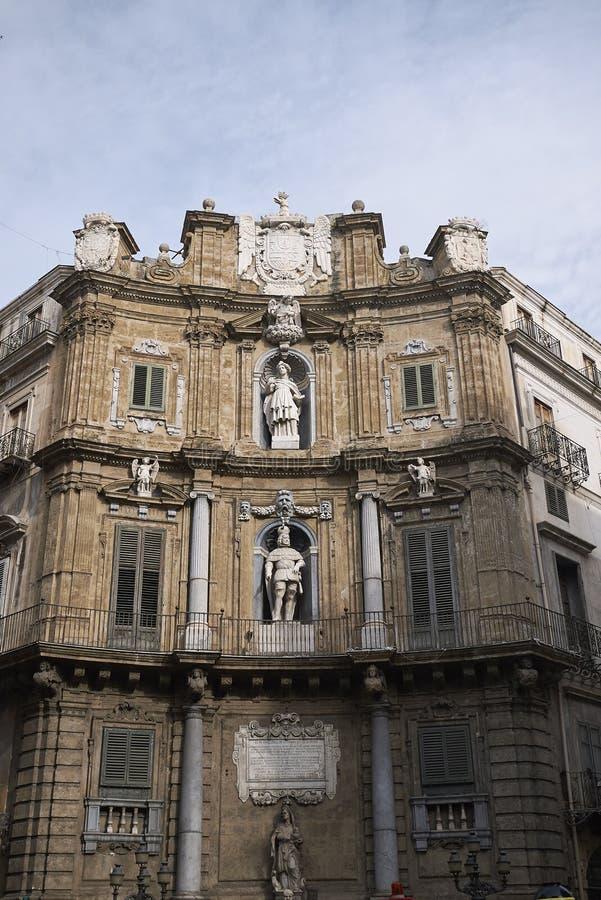 Άποψη Quattro Canti στοκ εικόνες