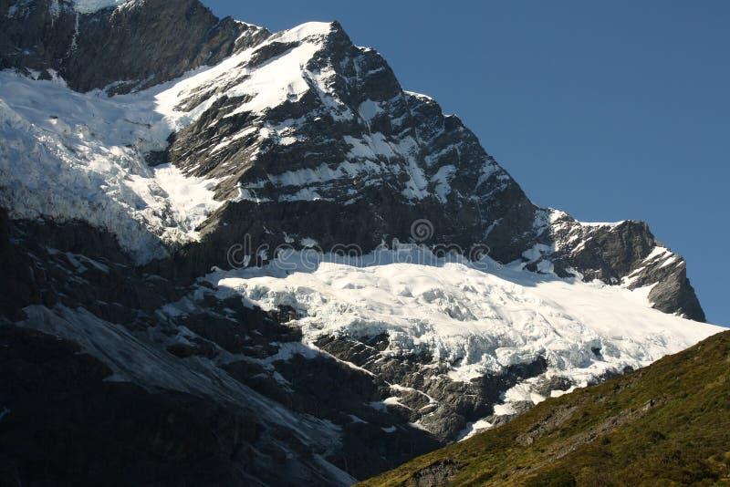 Άποψη Rob του παγετώνα του Roy στο εθνικό πάρκο επιδίωξης υποστηριγμάτων στοκ εικόνες