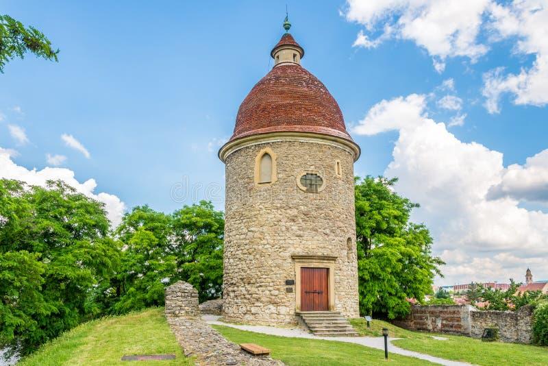 Άποψη Romanesque Rotunda Αγίου George σε Skalica - τη Σλοβακία στοκ εικόνες