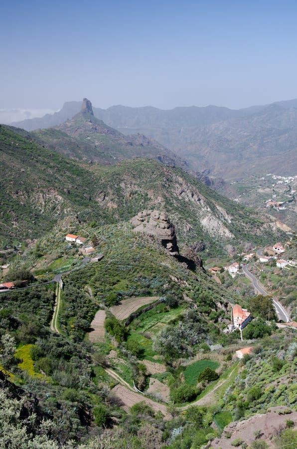 Άποψη Roque Bentayga και Λα Culata Tejeda, θλγραν θλθαναρηα, Ισπανία στοκ φωτογραφίες