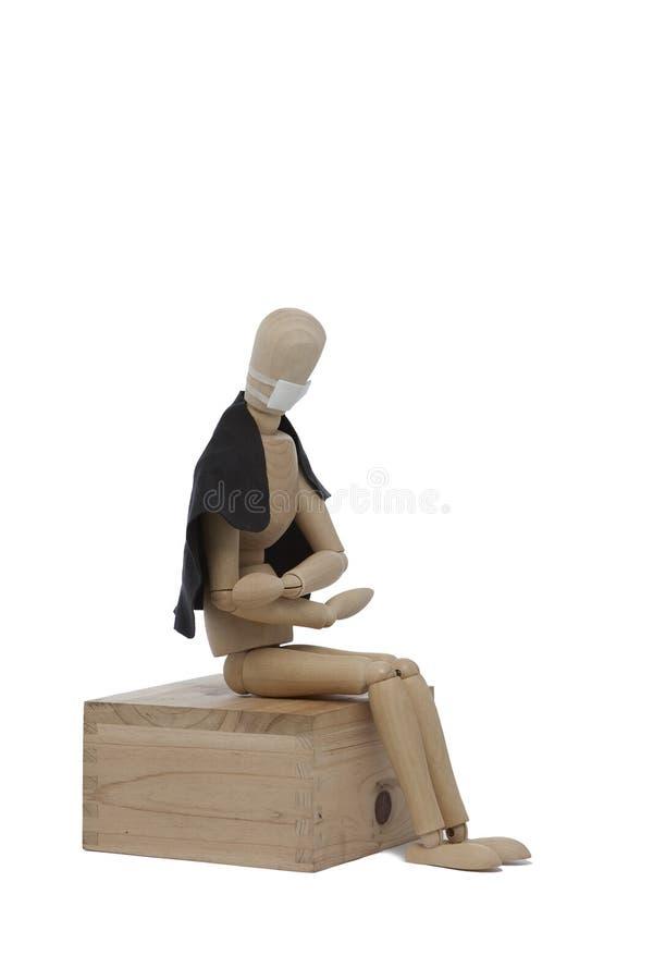 άρρωστοι ατόμων ξύλινοι στοκ εικόνα