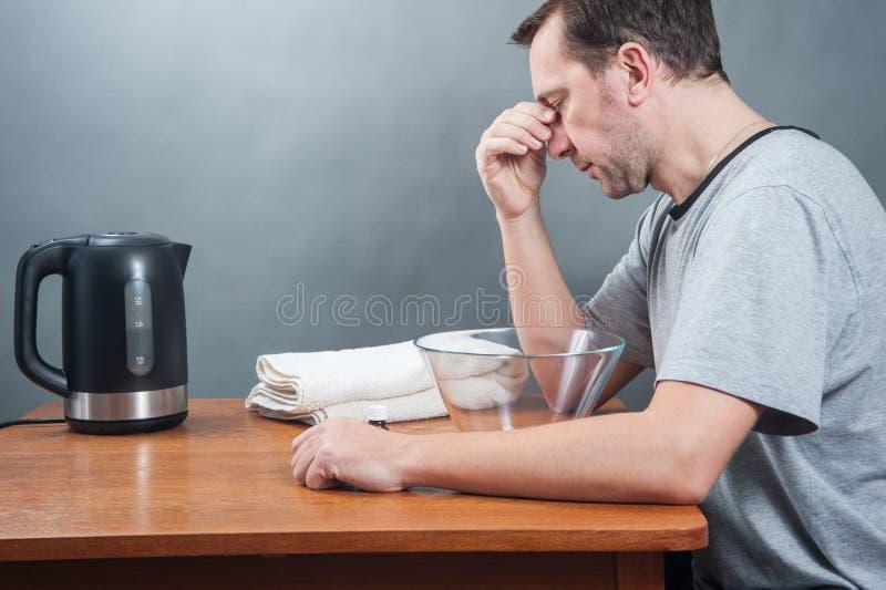άρρωστος άνδρας στοκ εικόνα με δικαίωμα ελεύθερης χρήσης