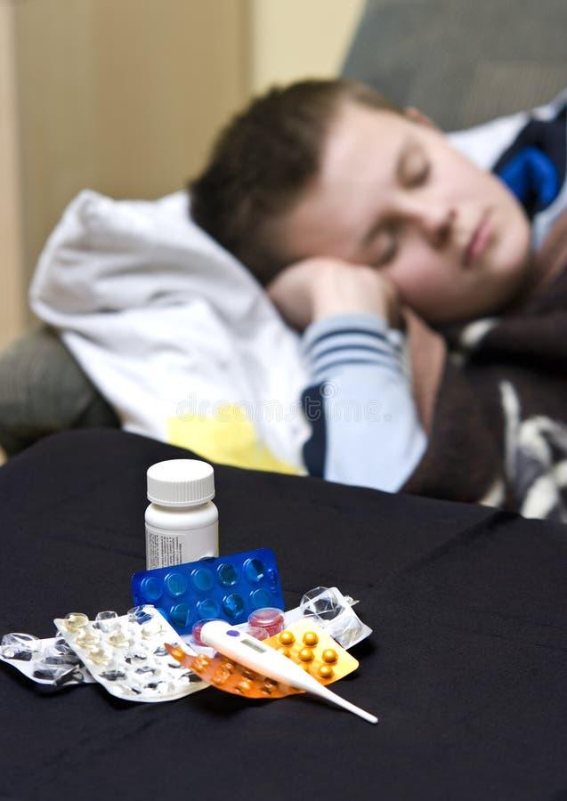 άρρωστος έφηβος στοκ εικόνες με δικαίωμα ελεύθερης χρήσης