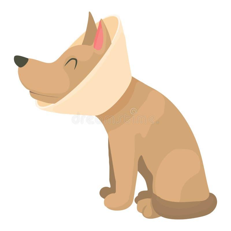Άρρωστο εικονίδιο σκυλιών, ύφος κινούμενων σχεδίων διανυσματική απεικόνιση