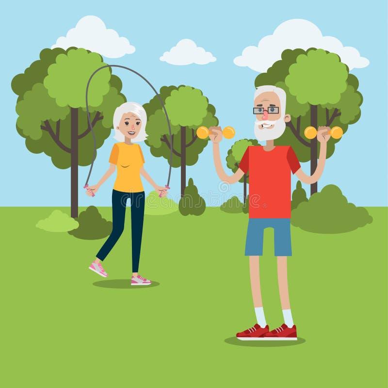 Άσκηση για τους ηλικιωμένους απεικόνιση αποθεμάτων