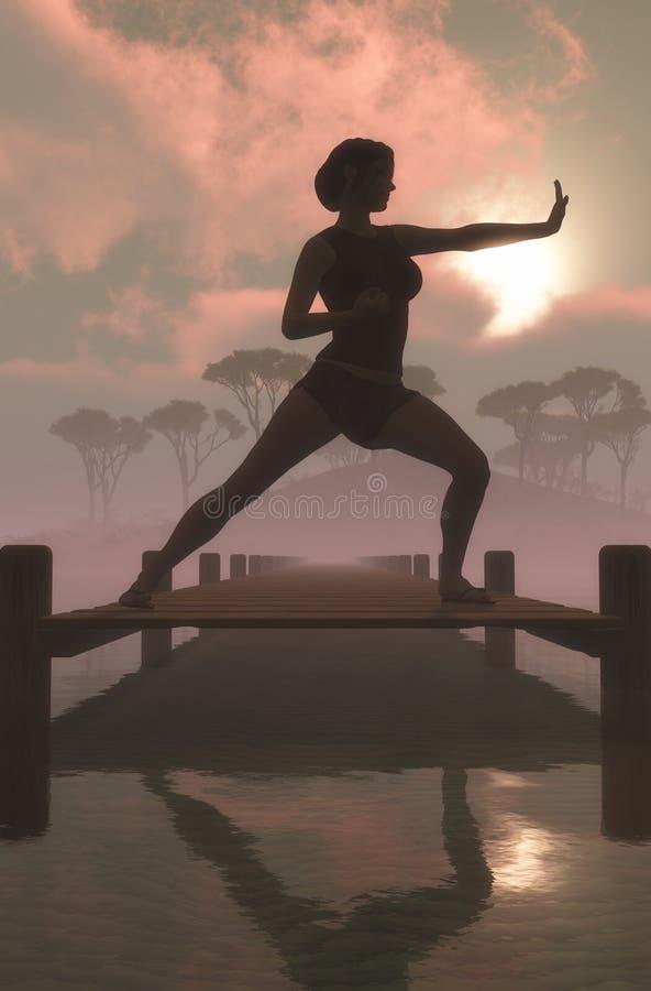 άσκηση γυναικών έννοιας υγείας διανυσματική απεικόνιση