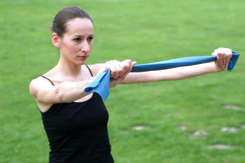 άσκηση ζωνών strech στοκ εικόνες με δικαίωμα ελεύθερης χρήσης